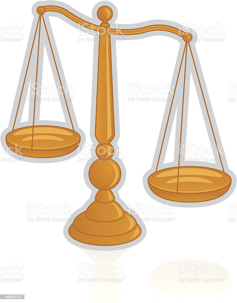 Legal Scales royalty-free stock vector art