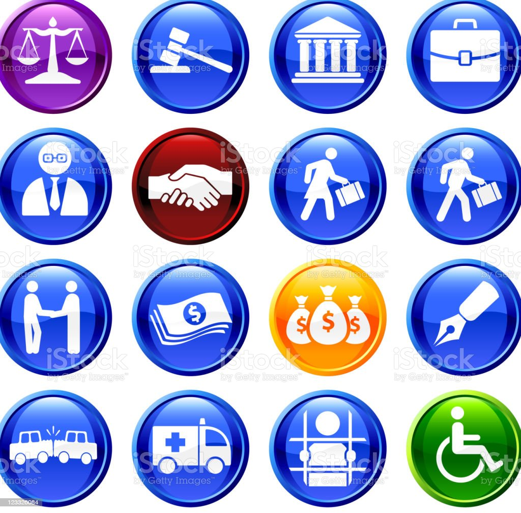 legal system sixteen royalty free vector icon set royalty-free stock vector art