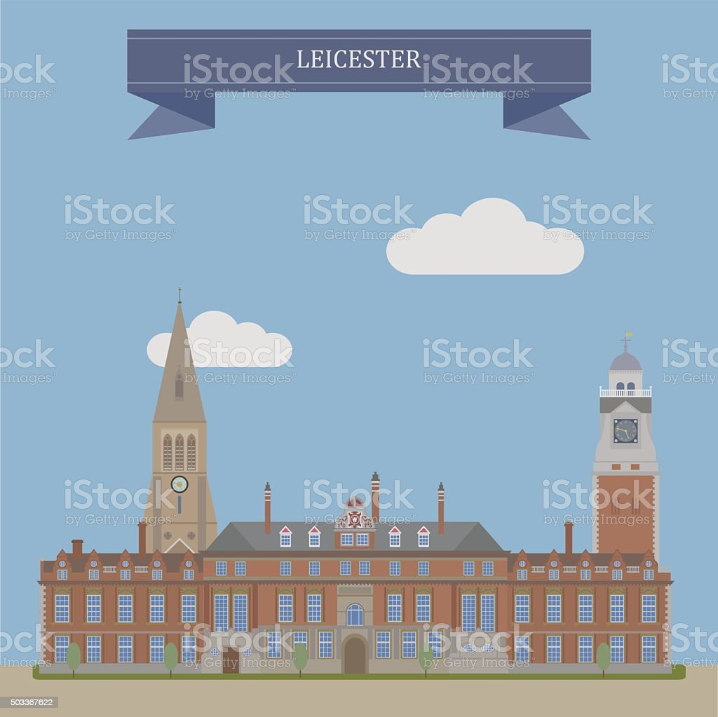 Leicester, England vector art illustration