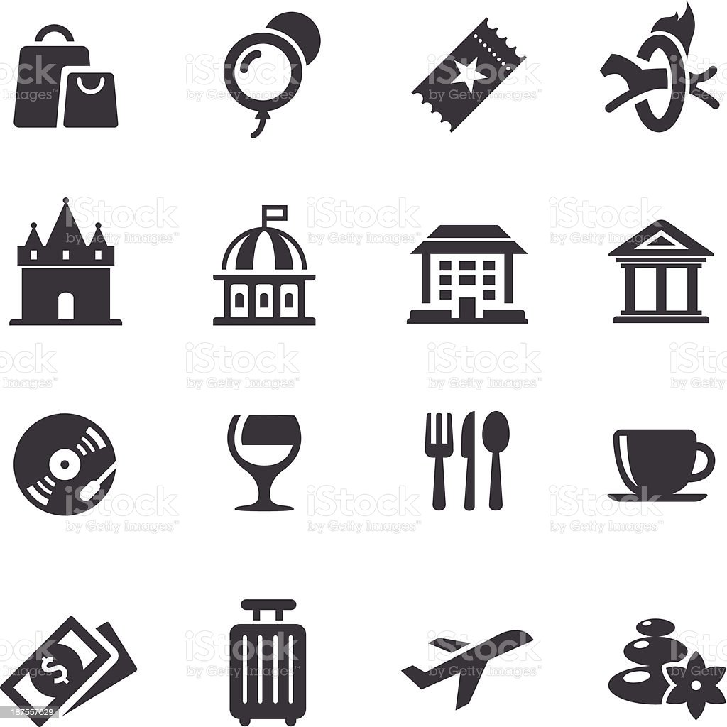 Leisure and Travel Icons - Acme Series vector art illustration