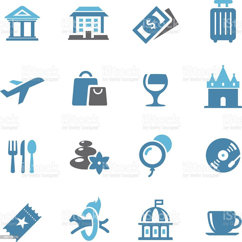 Leisure and Travel Icons - Conc Series vector art illustration