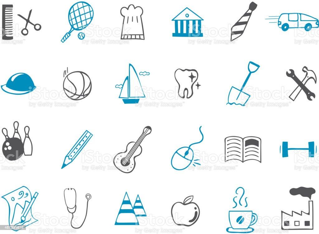 leisure Icon set royalty-free stock vector art