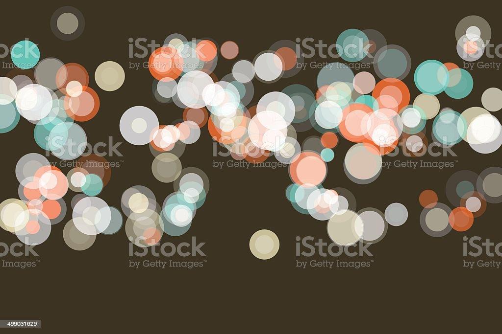 LeMans Bokeh Circle Pattern Horizontal royalty-free stock vector art
