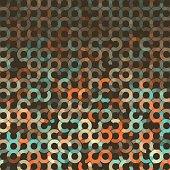 LeMans Geometric Circle Pie Vector Pattern