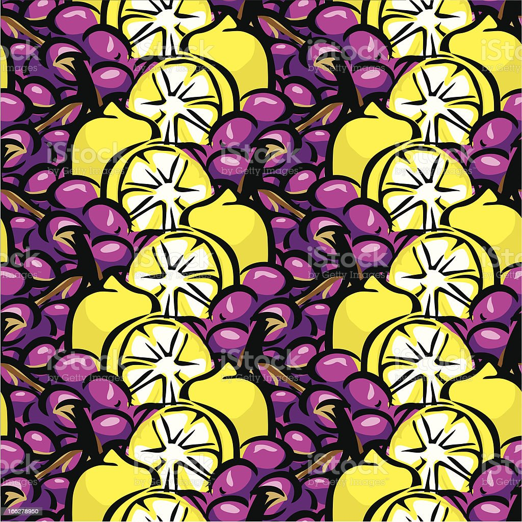 lemon and grapes background royalty-free stock vector art