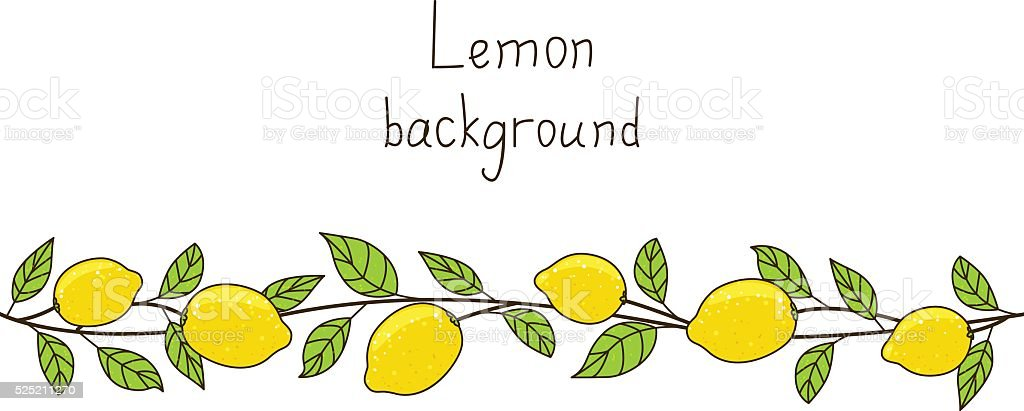 Lemon background for Your design vector art illustration