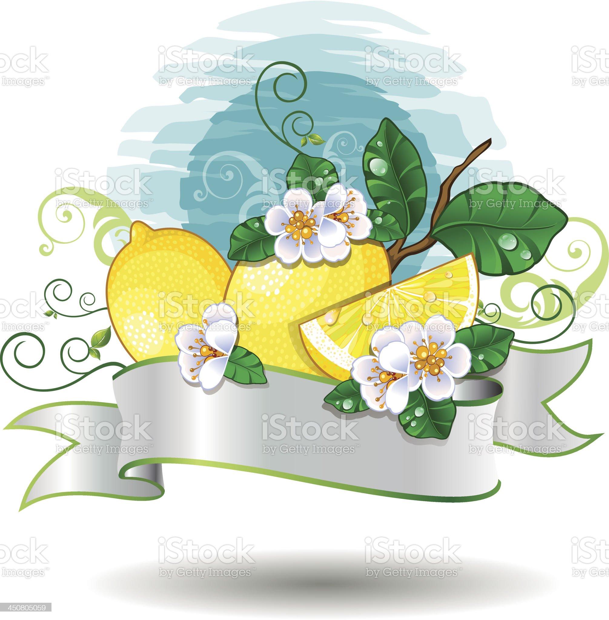 Lemon banner royalty-free stock vector art