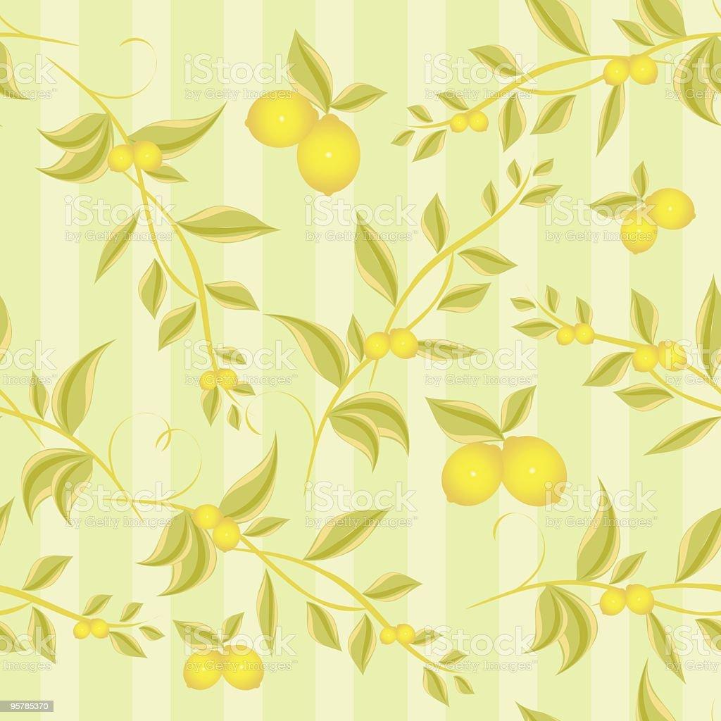 Lemon branches seamless royalty-free stock vector art