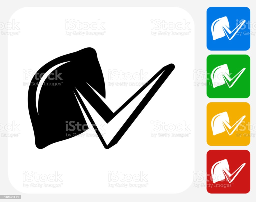 Lemon Check Icon Flat Graphic Design vector art illustration