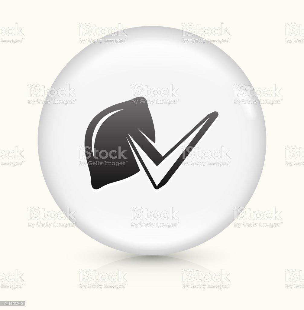 Lemon Check icon on white round vector button vector art illustration