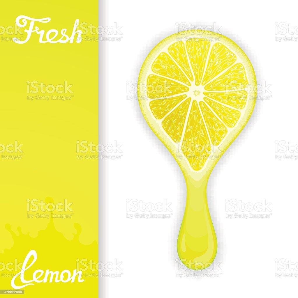 Lemon crush juice vector art illustration