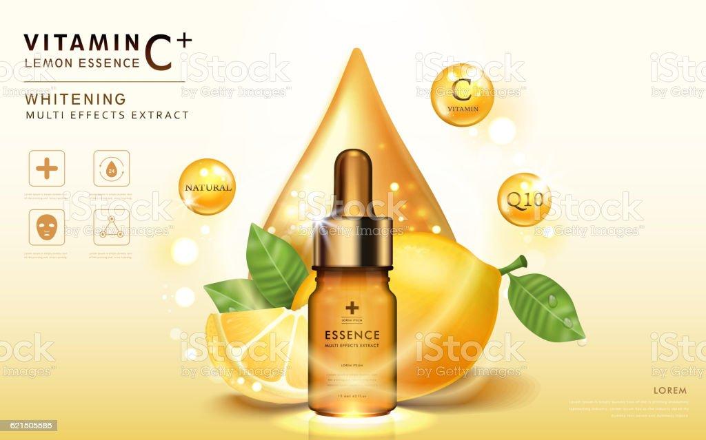 Lemon essence ads vector art illustration