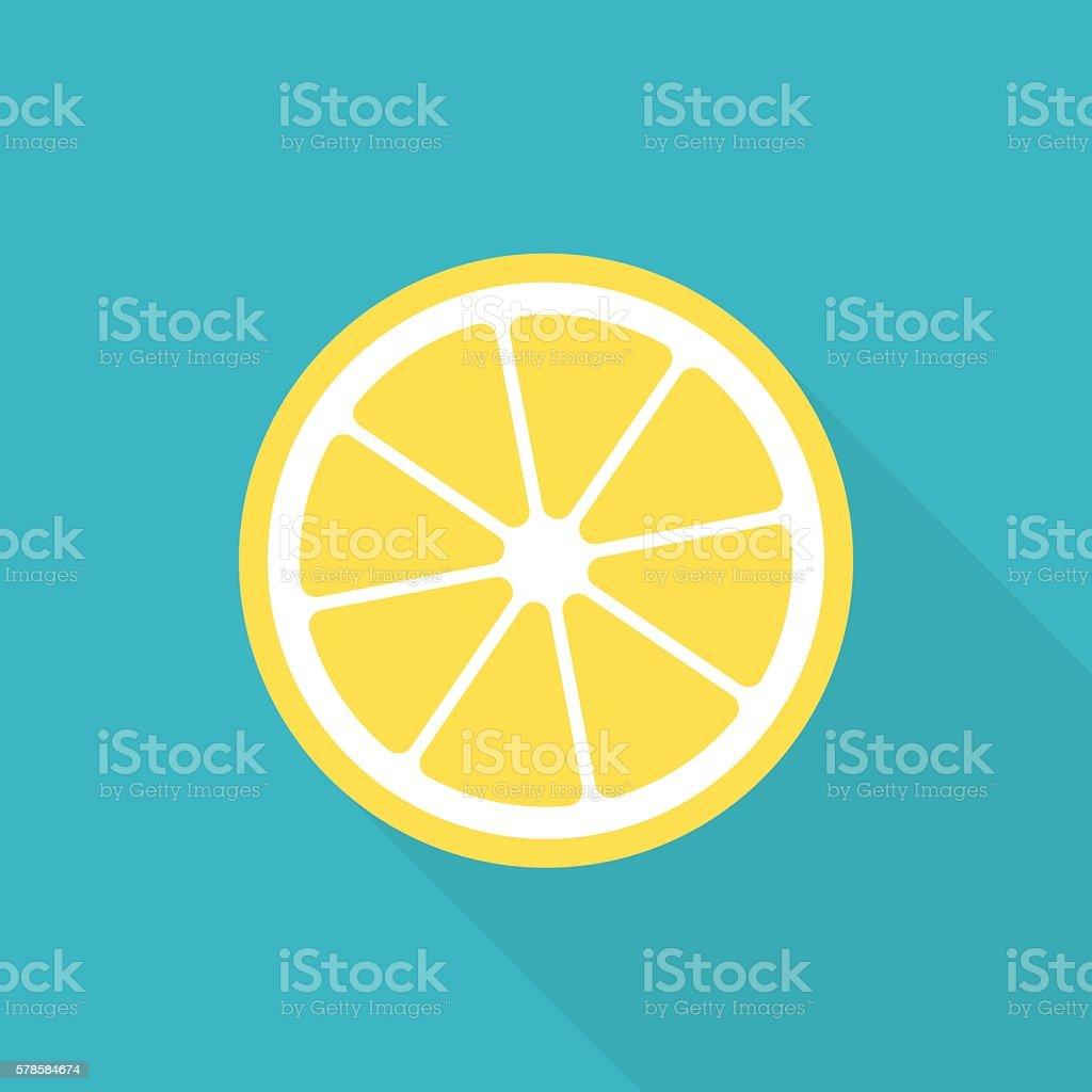 Lemon flat icon vector art illustration