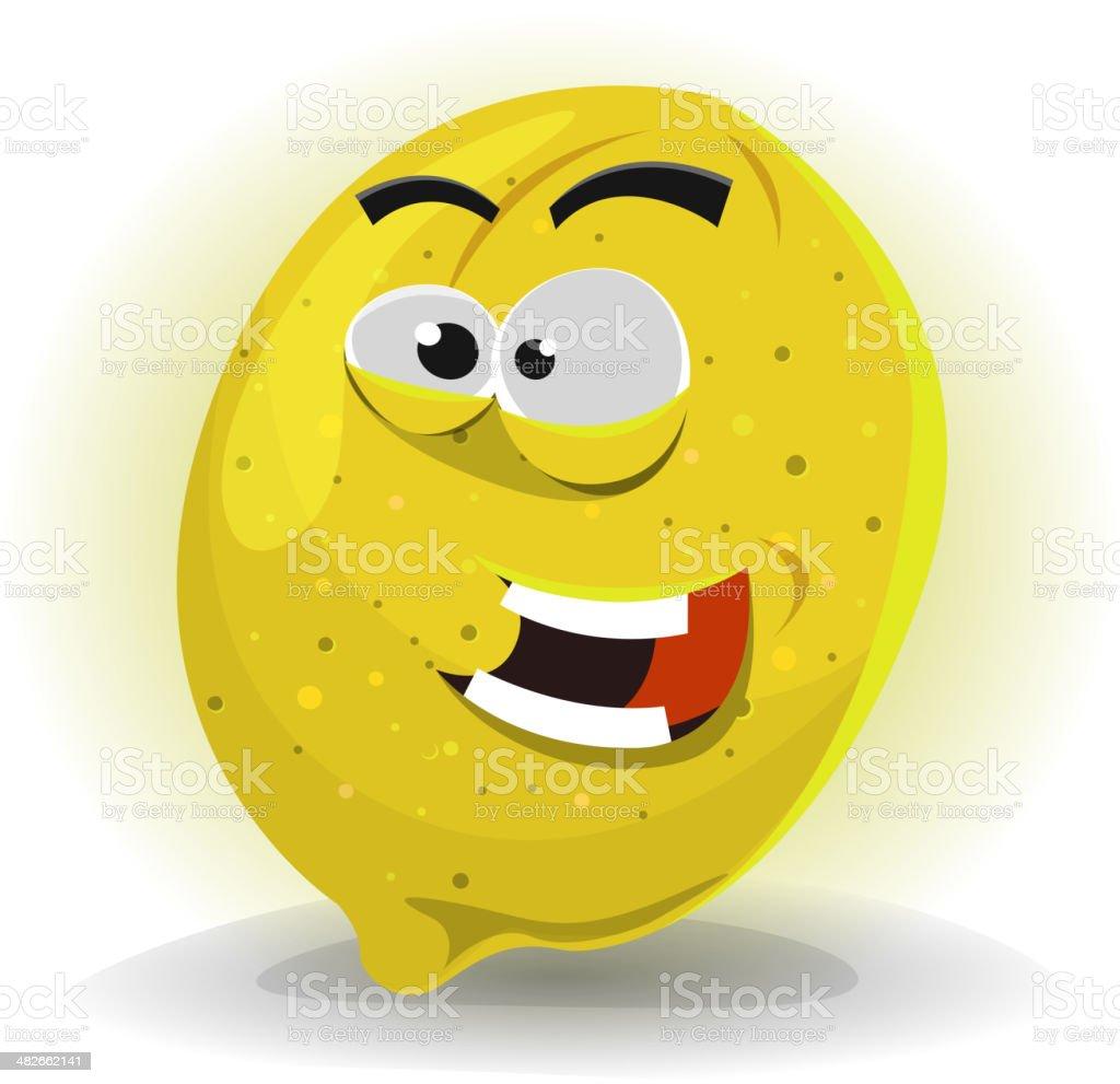 Lemon Fruit Character vector art illustration
