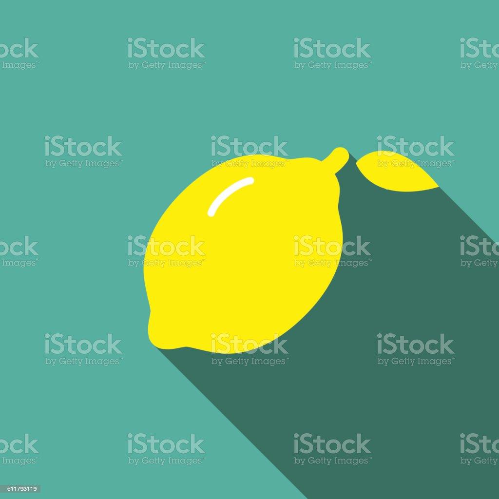 Lemon fruit  flat icon series vector art illustration