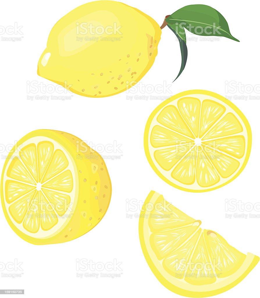 lemon fruit mix royalty-free stock vector art