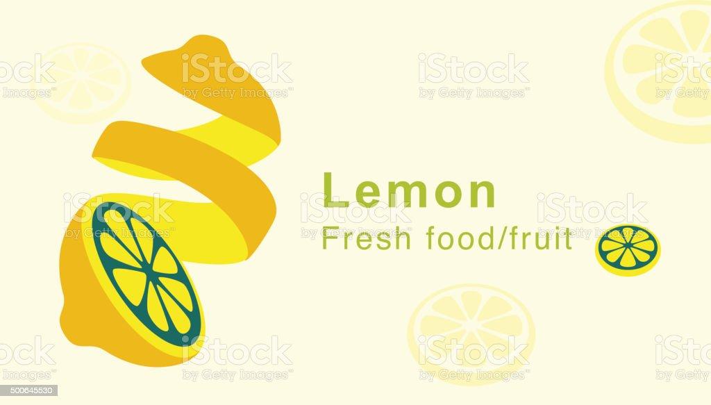 lemon fruit, peels skin, vector vector art illustration