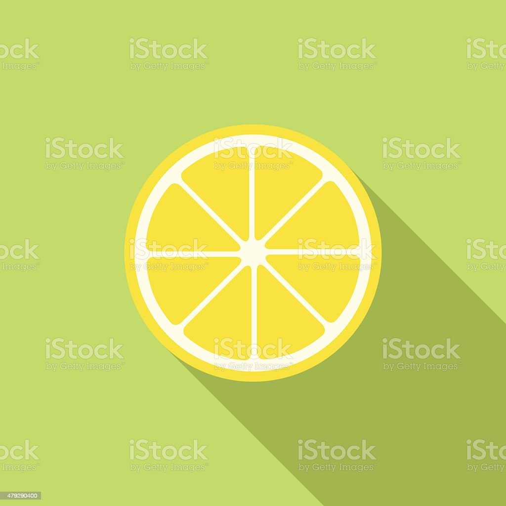 Lemon icon, modern minimal flat design style. Vector illustration vector art illustration