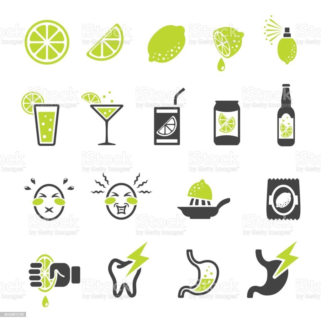 lemon icon vector art illustration
