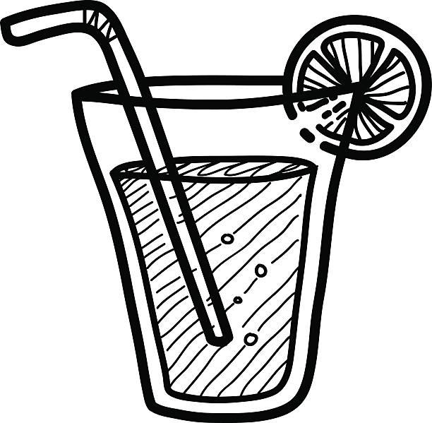 Line Art Juice : Cartoon of lemon juice clip art vector images