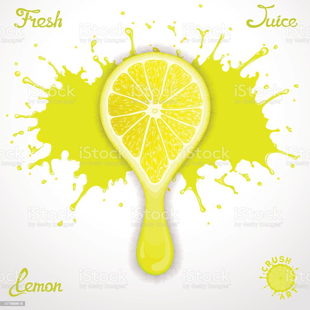 Lemon juice vector art illustration