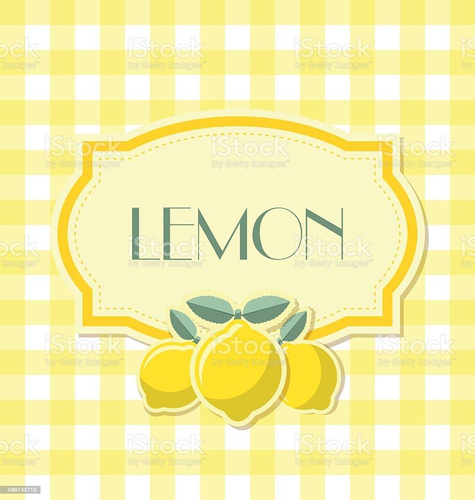 Lemon label vector art illustration