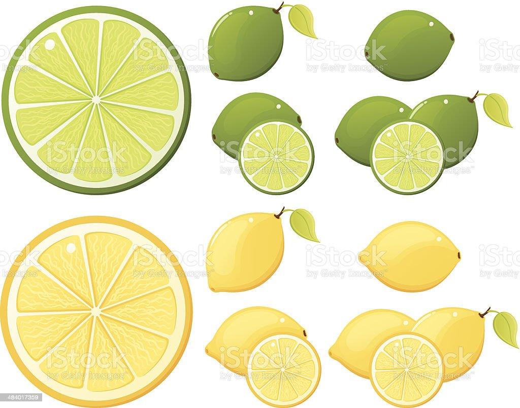 Lemon Lime Assortment vector art illustration