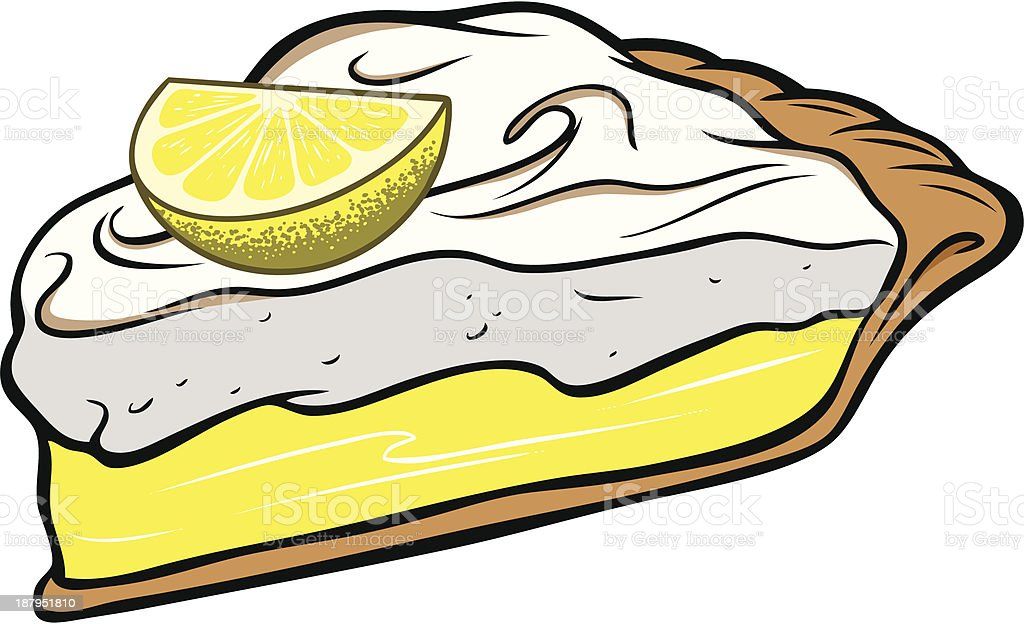 Lemon Meringue Pie vector art illustration
