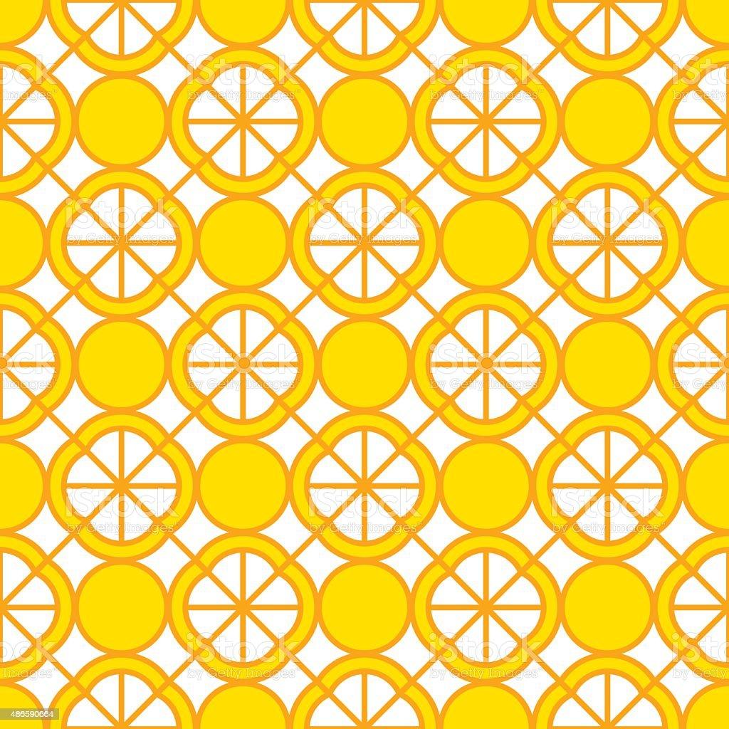 Lemon Pattern vector art illustration