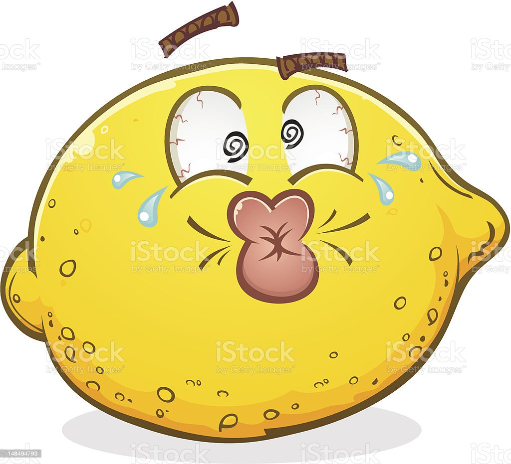 Lemon Pucker Face vector art illustration