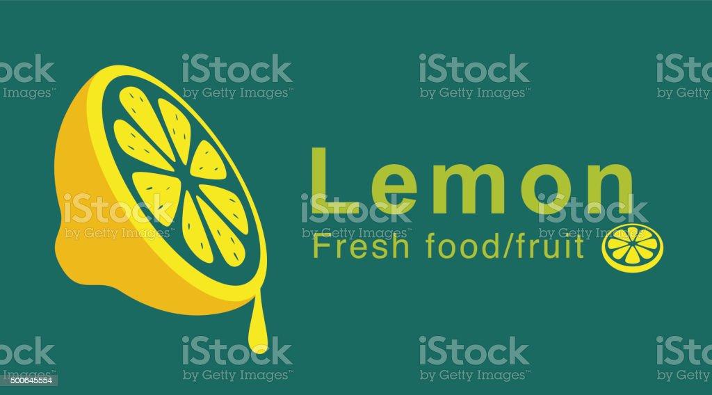 lemon slice dropping juicy vector art illustration