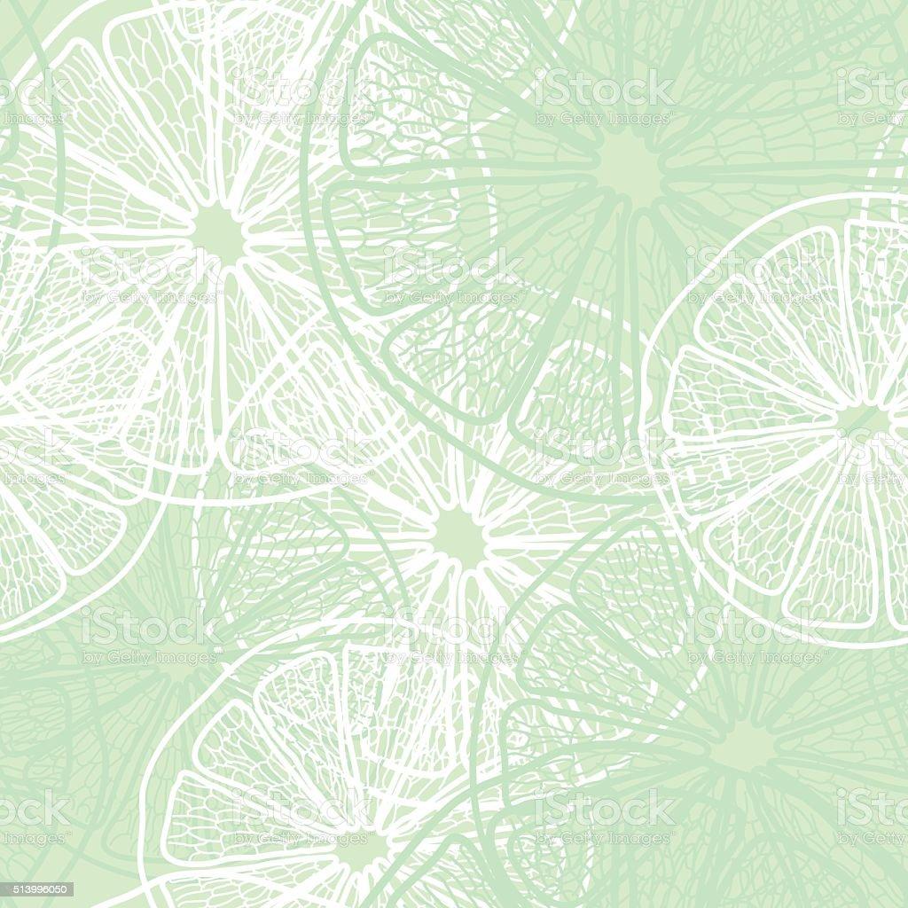 lemon slice pattern  vector illustration vector art illustration