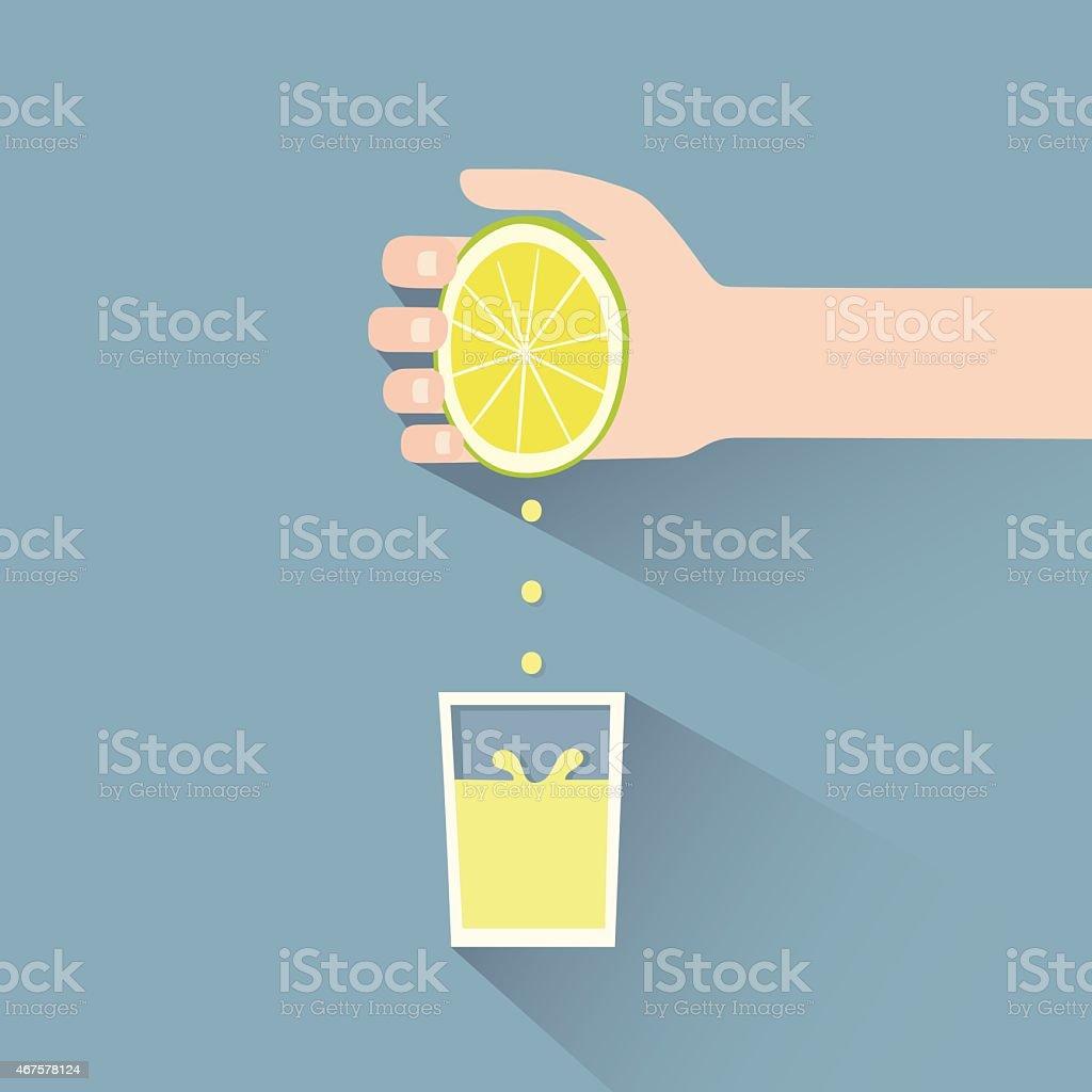 lemon squeeze vector art illustration
