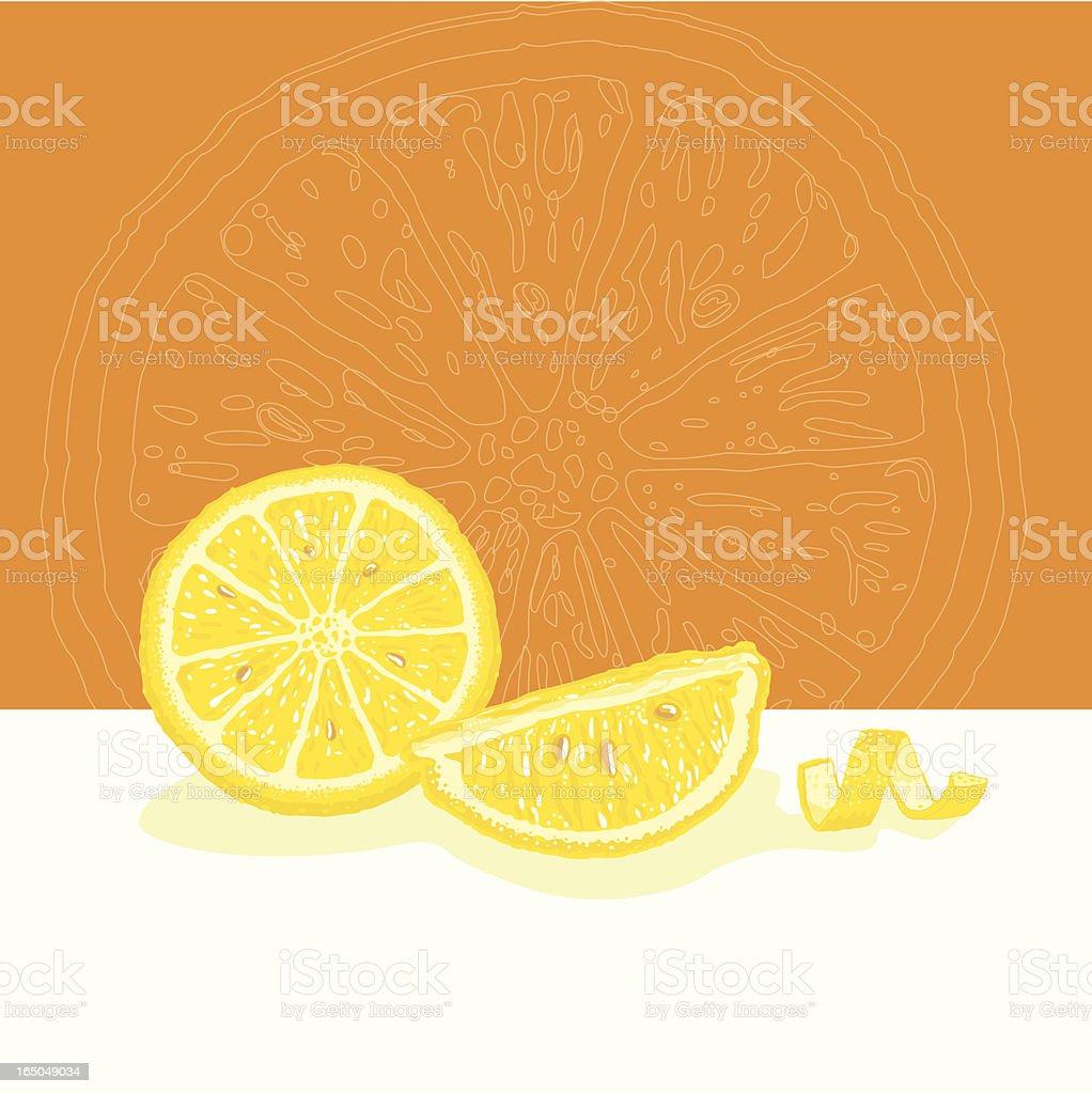 Lemon Still Life vector art illustration