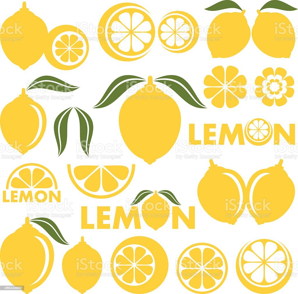Lemon vector art illustration