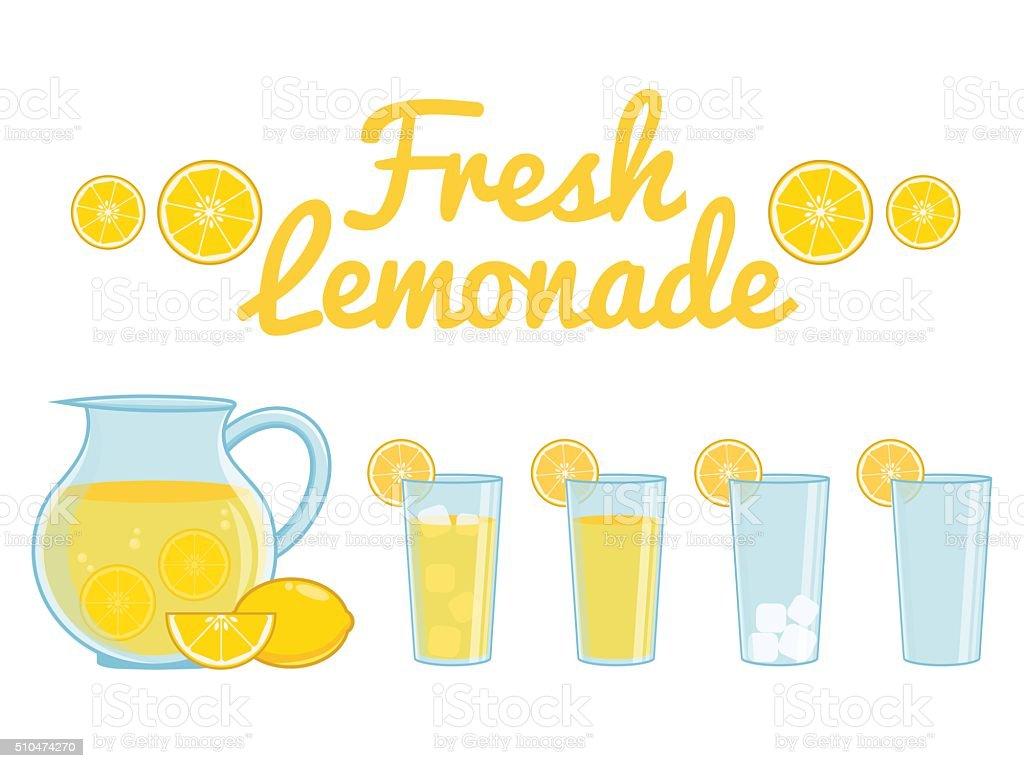 Lemonade isolated vector art illustration