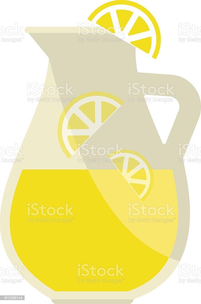 Lemonade jar vector illustration. vector art illustration