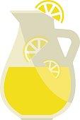 Lemonade jar vector illustration.