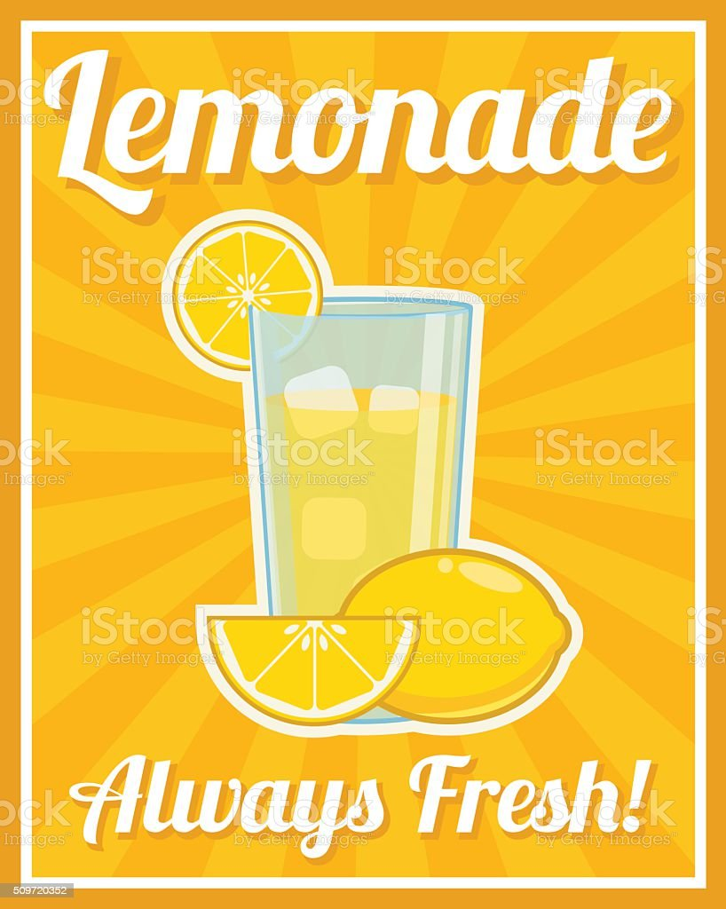 Lemonade Poster stock vector art 509720352 | iStock