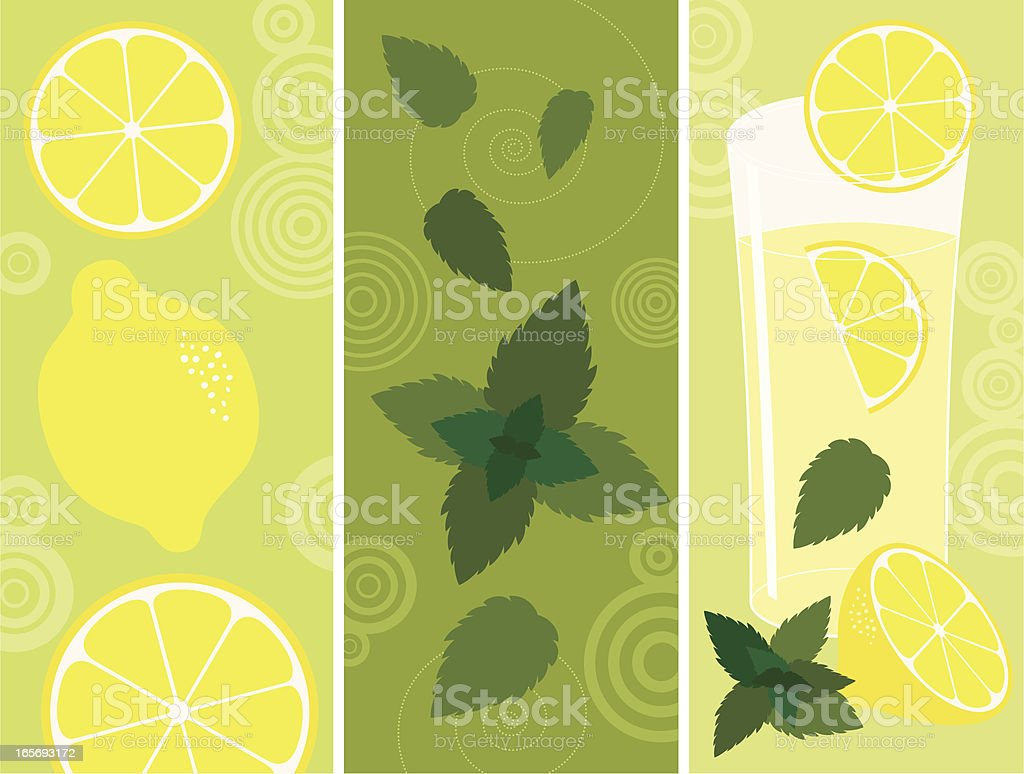 Lemonade with mint royalty-free stock vector art