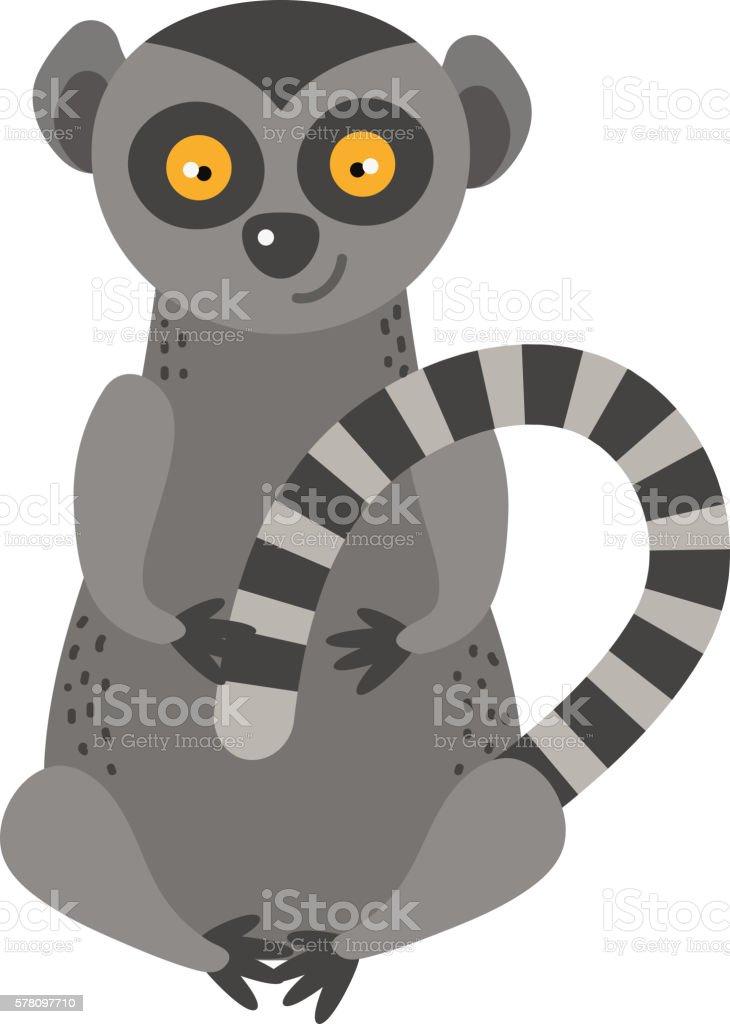 Lemur vector illustration vector art illustration