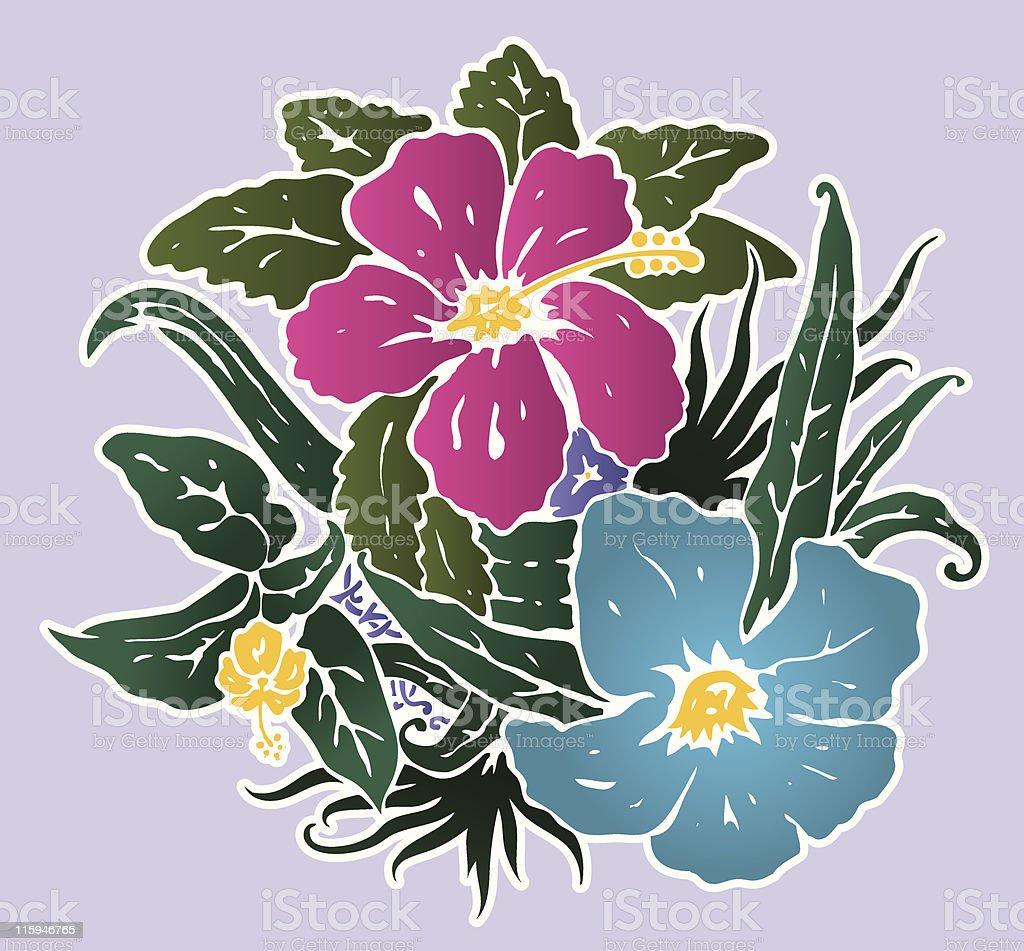 Lenore Floral? vector art illustration