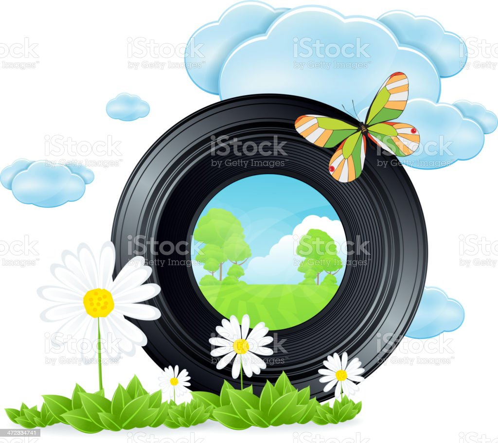 Lens and Nature royalty-free stock vector art