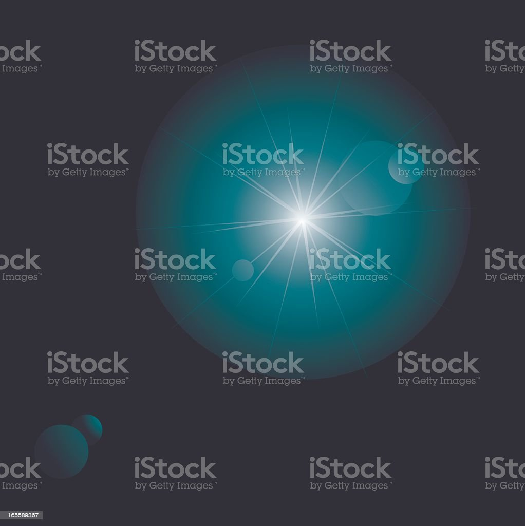 Lens flare against black background royalty-free stock vector art