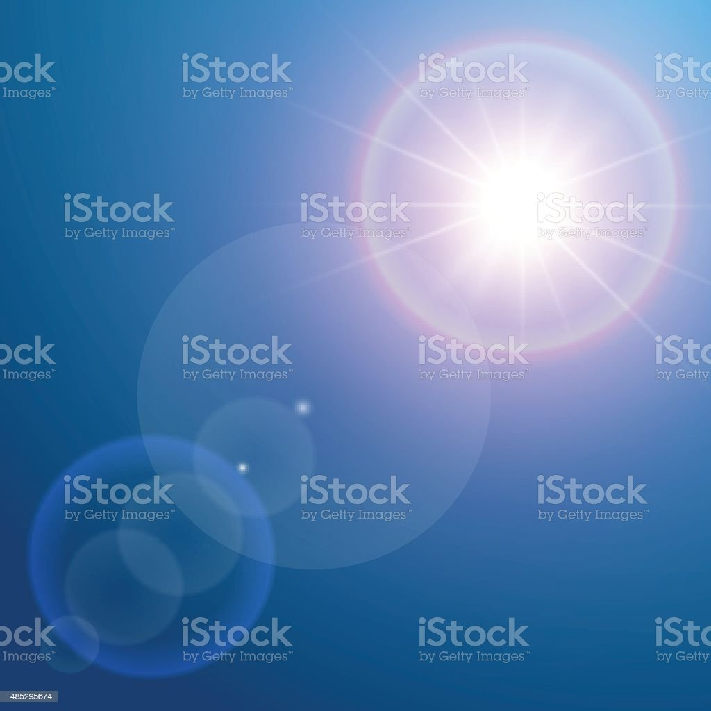 Lens flare vector art illustration