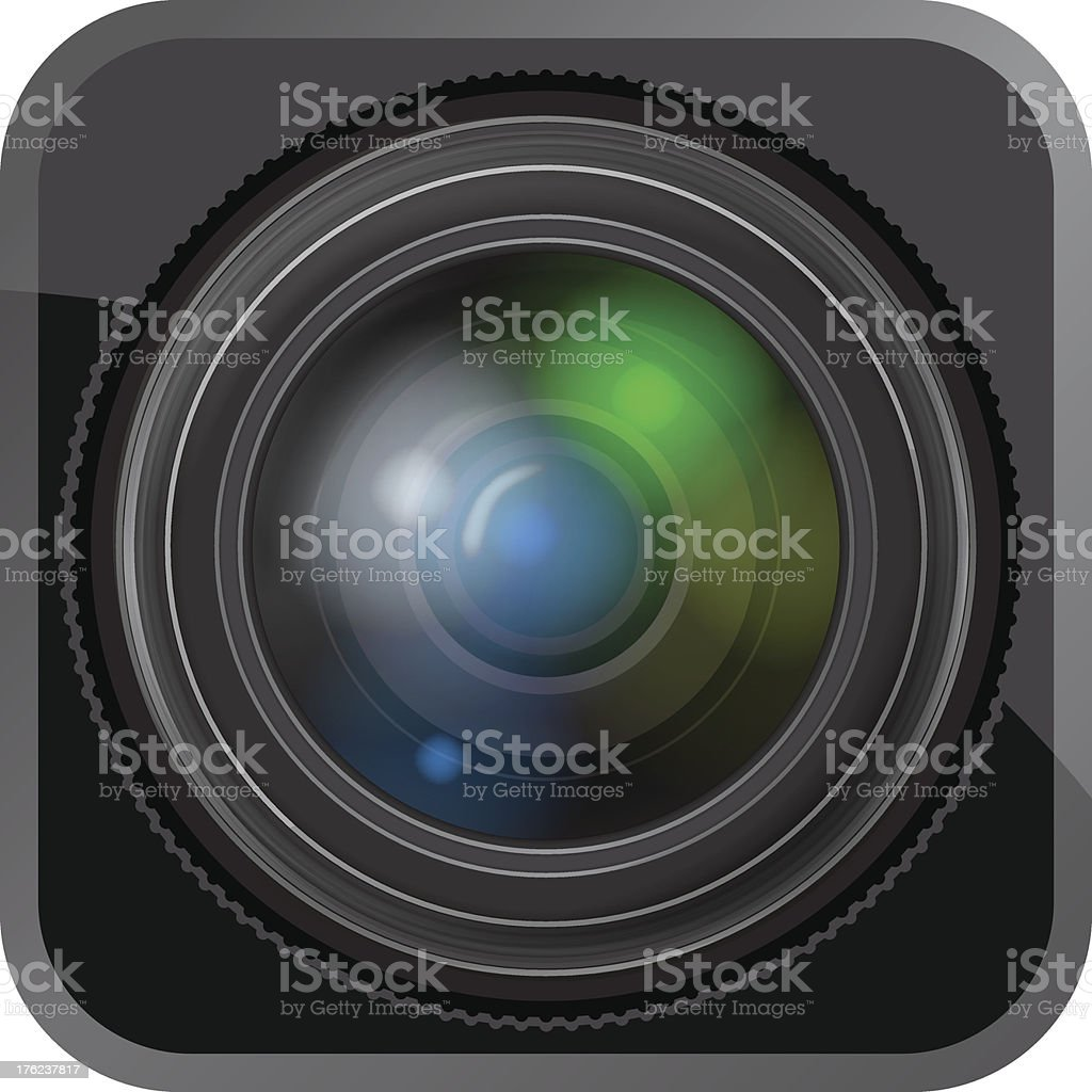 Lens Icon royalty-free stock vector art