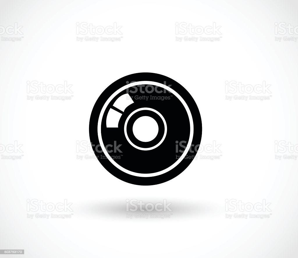 Lens icon vector illustration vector art illustration