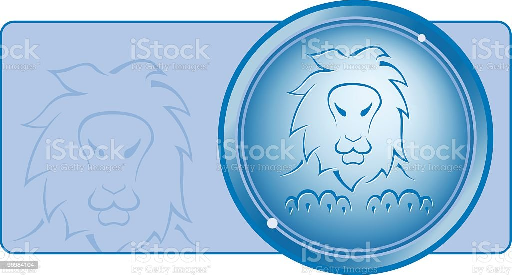 Leo zodiac series royalty-free stock vector art