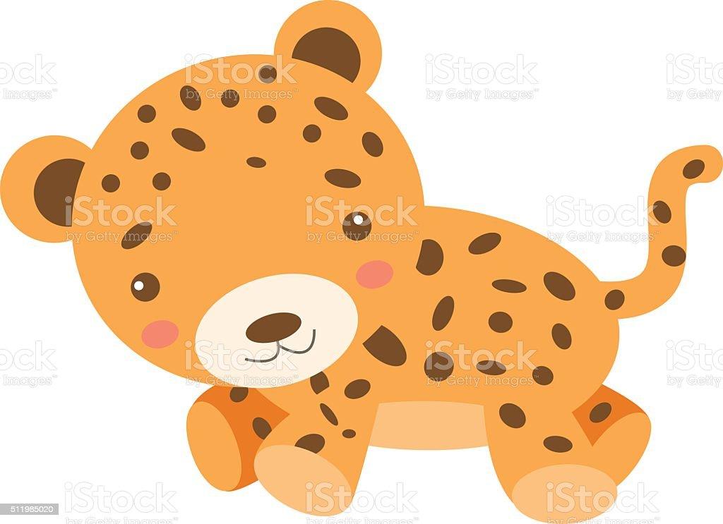 Leopard Cub vector art illustration