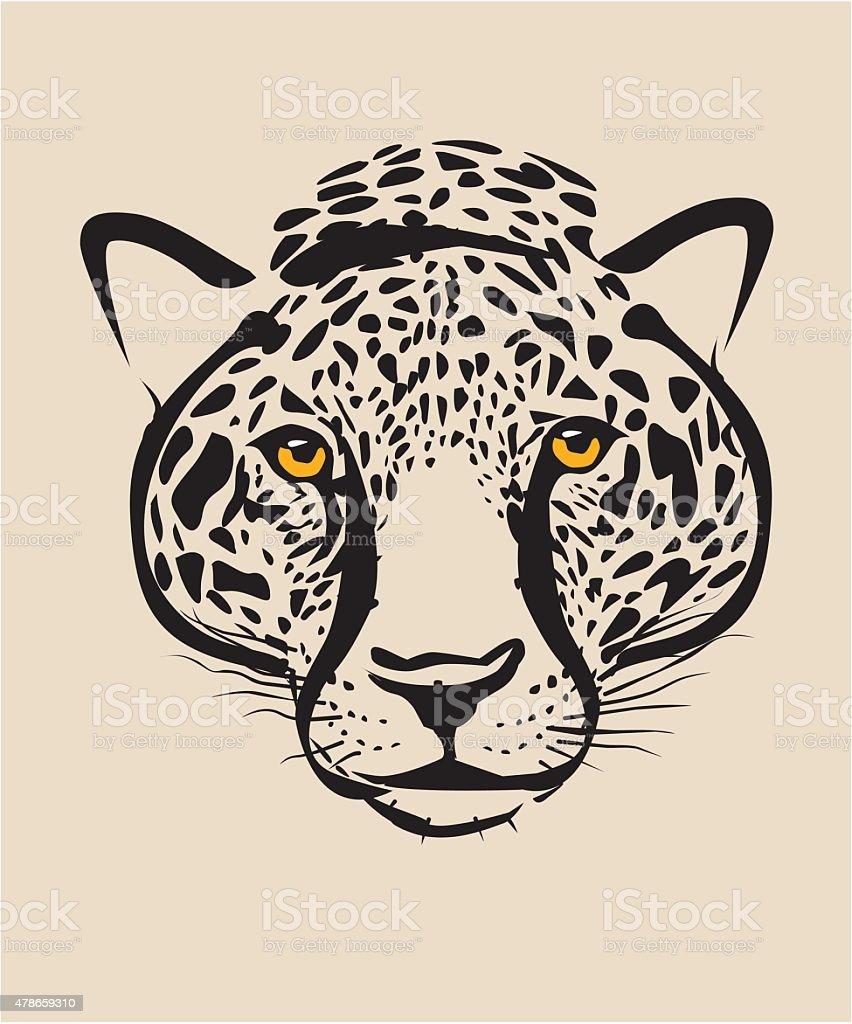 Leopard head vector art illustration